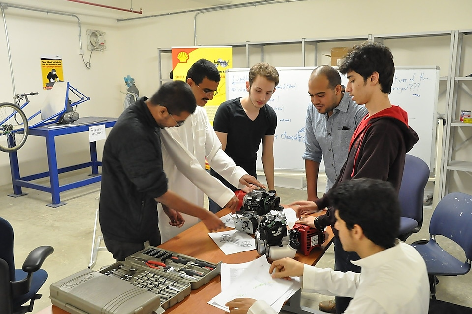 Team Alfaisal from Alfaisal University at work on The Faith prototype engine
