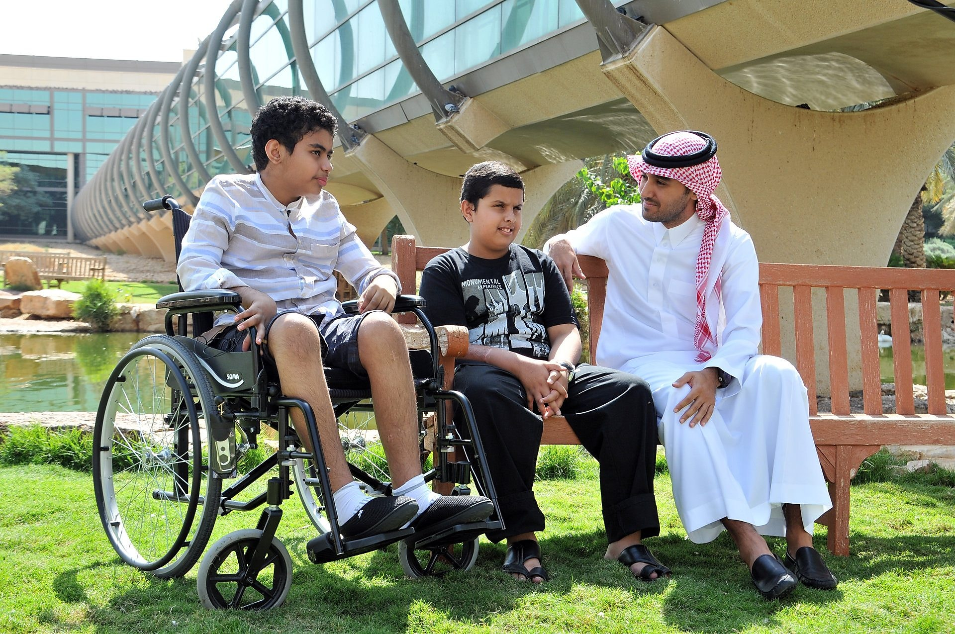 Mohammed Almootesh discussing his accident in the park