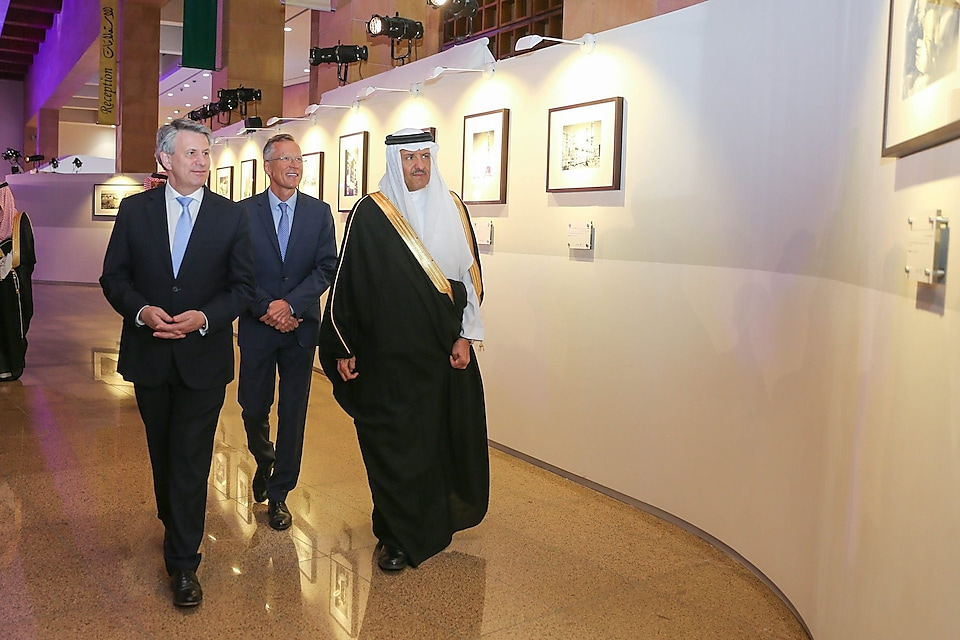 HRH Prince Sultan bin Salman during Shell Saudi's 75th celebration exhibition tour
