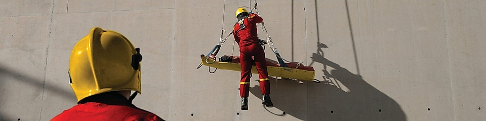 HSSE rescue training exercise at a refinery